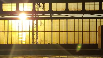 Sonneenuntergang Hbf Duisburg
