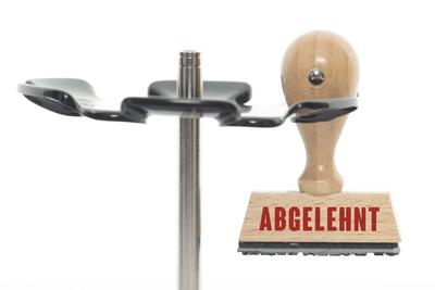 "Stempel ""ABGELEHNT"""