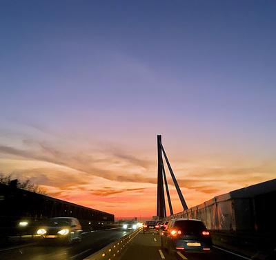 Brücke in Abendsonne
