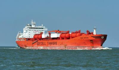 Tanker vor Cuxhaven