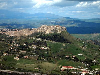 Blick auf Enna / Sizilien
