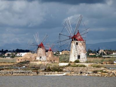 Windmühlen auf Sizilien