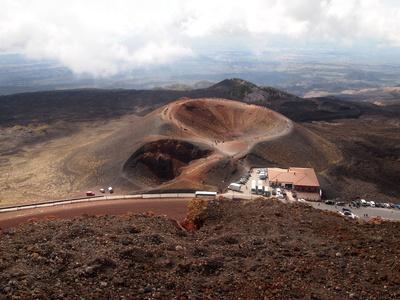 Blick auf die Silvestri-Krater am Ätna