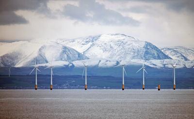 Schottland Grün und eisig