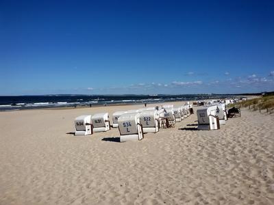 Am Strand von Ahlbeck / Usedom