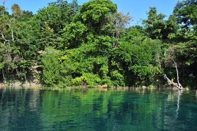 Lagune der 7 Farben in Bacalar (Mexiko)
