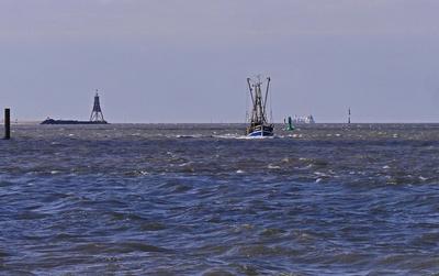 Die Elbmündung in die Nordsee