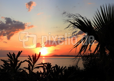 Sonnenuntergang in Punta Ballena, Uruguay
