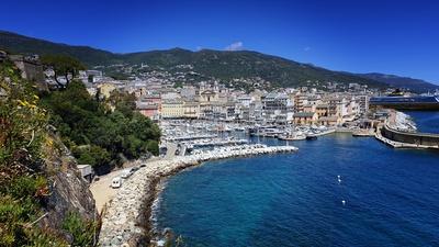 Blick auf die Altstadt von Bastia