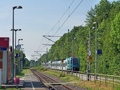 Ländliche Bahnstation