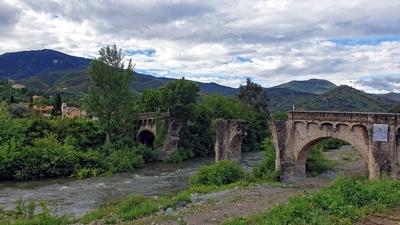 Ruine der Brücke Ponte Novu