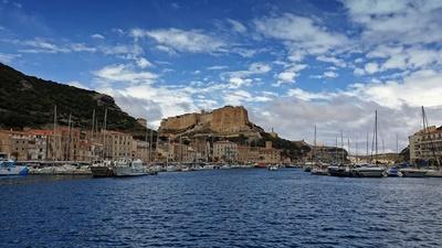 Blicke zur Festung von Bonifazio