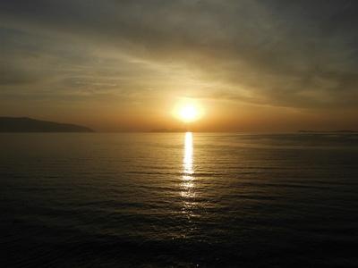 Sonnenuntergang in Vlora, Albanien