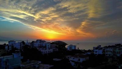 Sonnenuntergang in Ksamil, Albanien