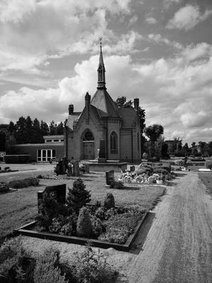 Friedhof in s/w