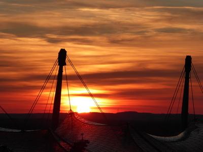 Olympischer Sonnenuntergang