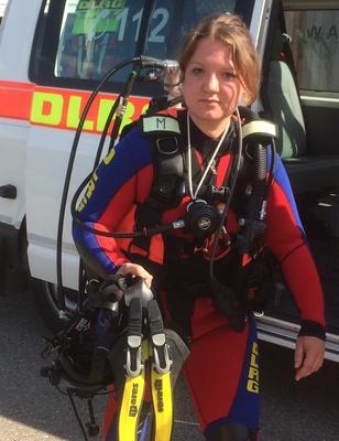 Rettungstaucherin der DLRG