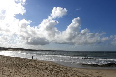Strand in Punta del Diablo, Uruguay