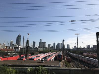 Skyline mit Hauptbahnhof Frankfurt am Main