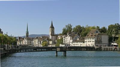 Blick auf Zürich Altstadt 2019