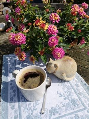 Ein Becher Kaffee