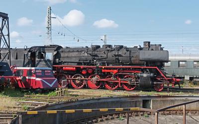 Im Eisenbahnmuseum . . . .