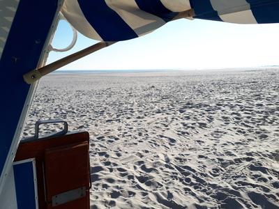 Strandkorb mit Weitblick