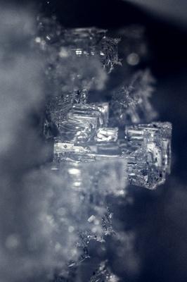 Makroaufnahme Eiskristallen