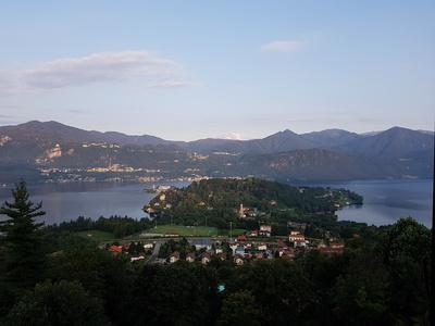 Lago Orta mit Blick auf Monte Rosa