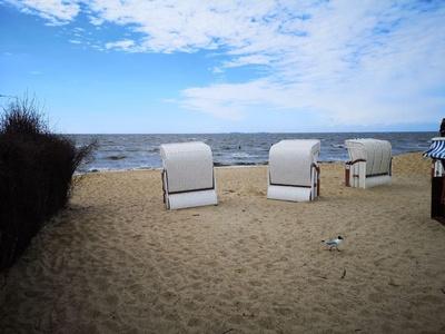 Strandkörbe an der See