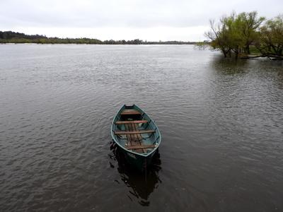 Boot auf dem Rio Negro, Uruguay