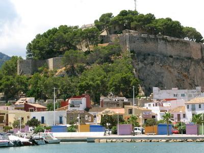 Denia mit Hafen und Castle