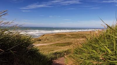 Blick auf den Strand von Hirtshals