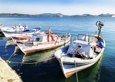 Fischerboote in Ayvalik