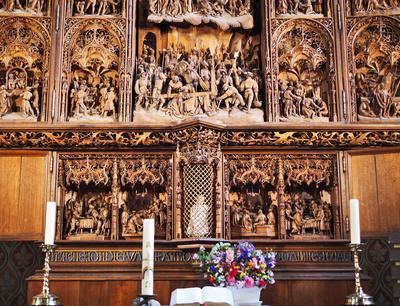 Der Bordeholmer Altar - Unterbau