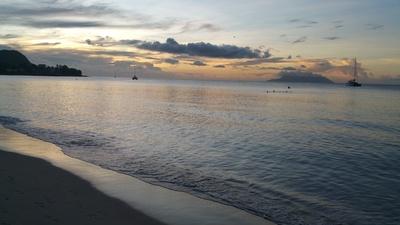 Sonnenuntergang in Seychelles
