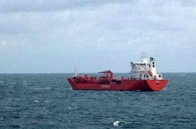 Tankschiff auf der Ostsee