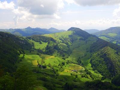 Panoramablick Landschaft