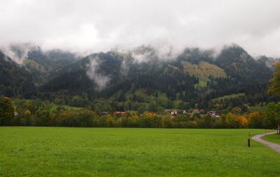 Herbsttag in Oberbayern bei Bayrischzell