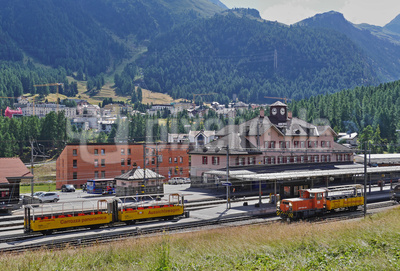 Der Bahnhof Pontresina