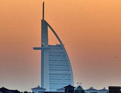 Burj al Arab im Morgengrauen