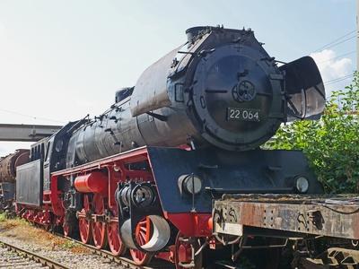 Im Bayerischen Eisenbahnmuseum . . . .