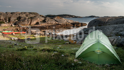 Zelten auf der eigenen Insel