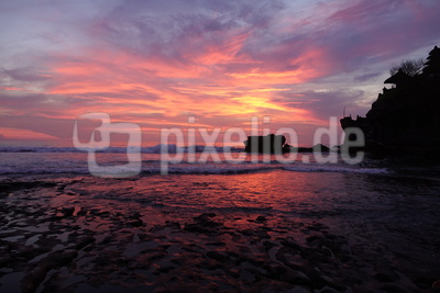 Sunset am Tanah Lot Temple