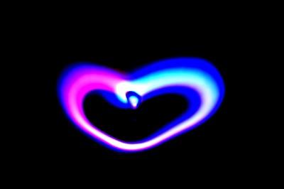 Lichtmalerei 2 Herz