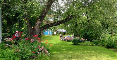Garten-Idylle im Sommer