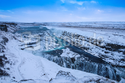 Island-Winter: Gullfoss