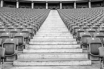 Keiner da - leeres Olympiastadion