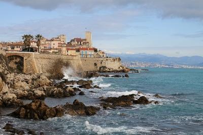 Küstenansicht von Antibes
