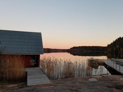 Sonnenaufgang über der Ostsee in Geta auf den Åland  Inseln